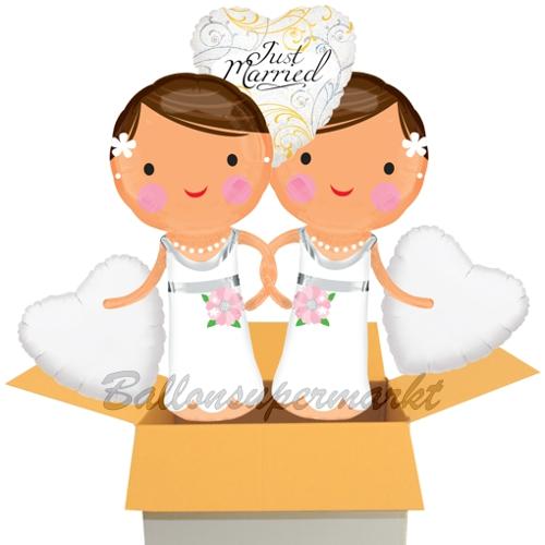 5 Luftballons Zur Lesbischen Hochzeit Just Married Hochzeitspaar Mit