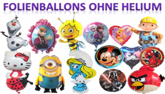 Folienballons, Luftballons aus Folie ohne Helium