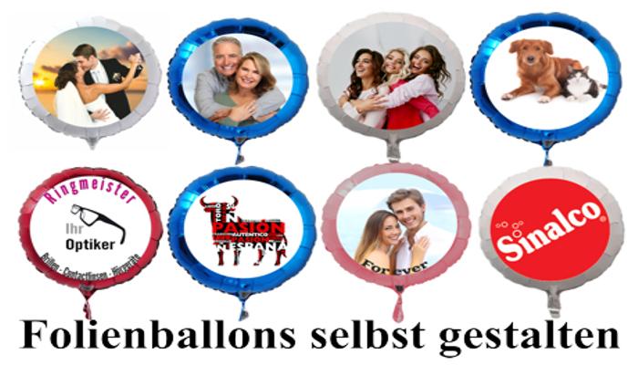Luftballons aus Folie selbst designen, Ballons mit eigenem Foto