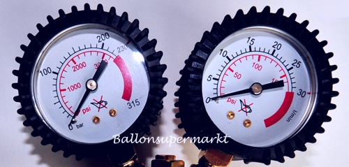ballonsupermarkt ballongas manometer druckminderer auff llventil f r. Black Bedroom Furniture Sets. Home Design Ideas