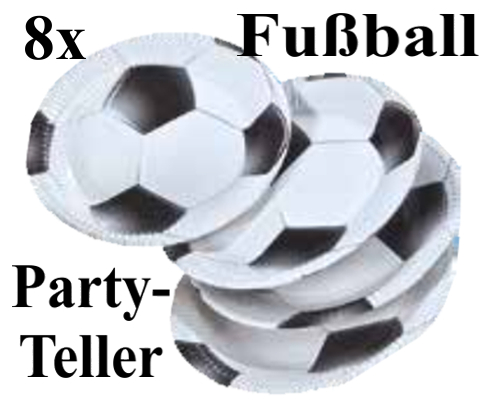 ballonsupermarkt fu ball partyteller. Black Bedroom Furniture Sets. Home Design Ideas