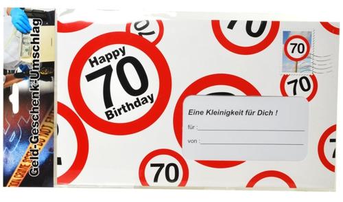 Gro er geld geschenk umschlag zum 70 geburtstag 70 geburtstag dekoration geburtstag 70 - Dekoration zum 70 geburtstag ...