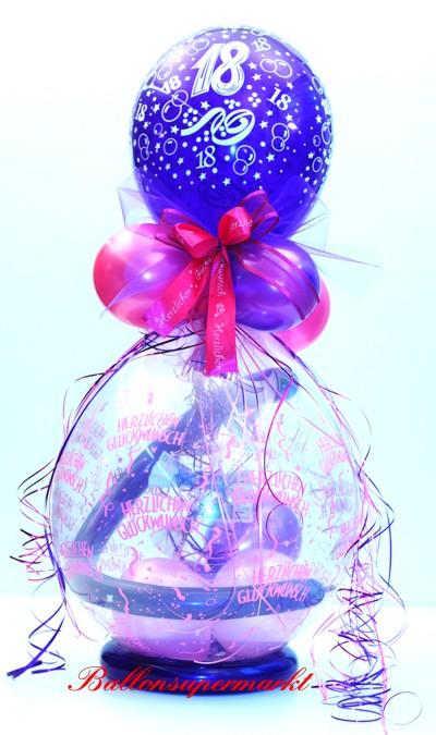 Geschenkballon Zum 18 Geburtstag Ballonsupermarkt Onlineshop De
