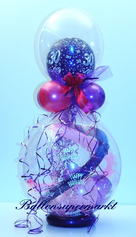geschenkballon zum 30 geburtstag ballonsupermarkt. Black Bedroom Furniture Sets. Home Design Ideas