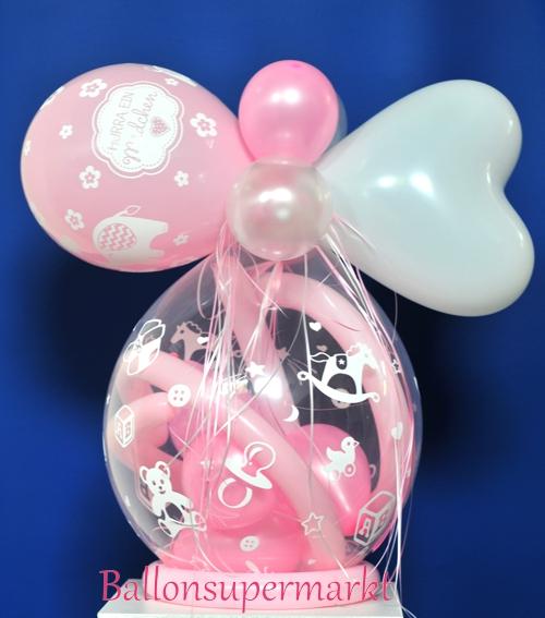 Dekoration Taufe Mädchen: Geschenkballon Hurra Ein Mädchen Zu Geburt, Festdekoration