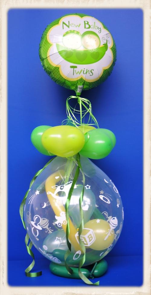 ballonsupermarkt geschenkballon geburt taufe baby party twins zwillinge. Black Bedroom Furniture Sets. Home Design Ideas