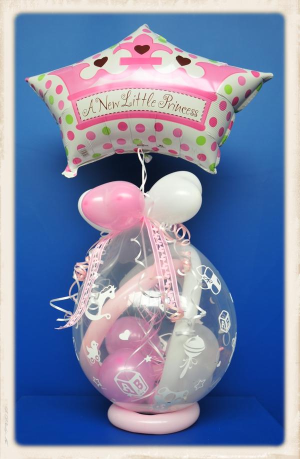 ballonsupermarkt geschenkballon a new little princess partydekoration geburt taufe. Black Bedroom Furniture Sets. Home Design Ideas