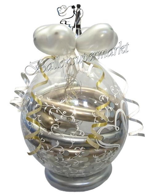 geschenkballon zur hochzeit brautpaar chrome ballonsupermarkt. Black Bedroom Furniture Sets. Home Design Ideas