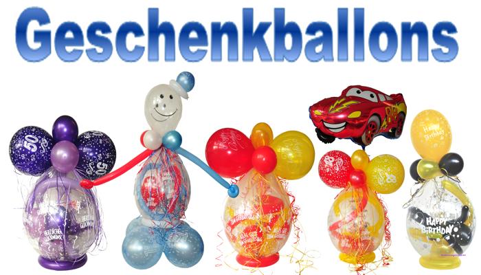 Geschenkballons, Geschenk im Ballon