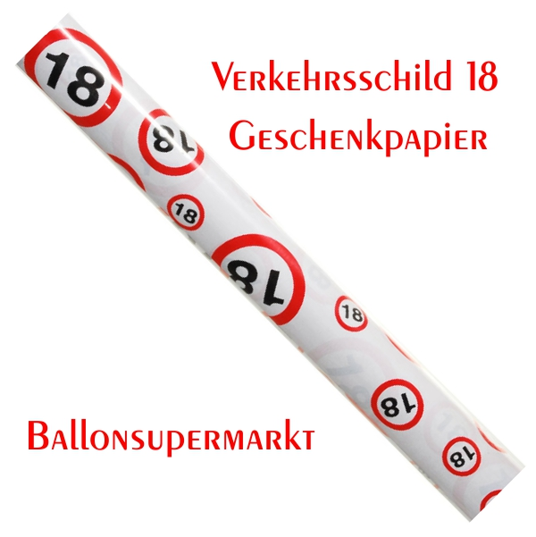 ballonsupermarkt geburtstag 18 geschenkpapier geburtstag 18 dekoration. Black Bedroom Furniture Sets. Home Design Ideas