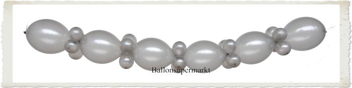 ballonsupermarkt silberne hochzeit dekoration ballongirlande zum selbermachen. Black Bedroom Furniture Sets. Home Design Ideas