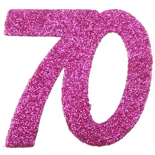 Zahlendeko konfetti pink glitter zahl 70 konfetti geburtstag tischdekoration geburtstag - 70 geburtstag dekoration ...