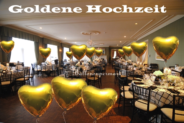 goldene hochzeit dekoration hochzeitsdeko zur. Black Bedroom Furniture Sets. Home Design Ideas