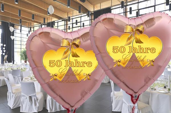 ballonsupermarkt goldene hochzeit rosegoldener herzballon aus folie ohne helium. Black Bedroom Furniture Sets. Home Design Ideas