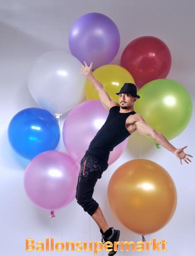 ballonquaste bunt aus papier quasten f r luftballons ballonzubeh r ballonsupermarkt. Black Bedroom Furniture Sets. Home Design Ideas