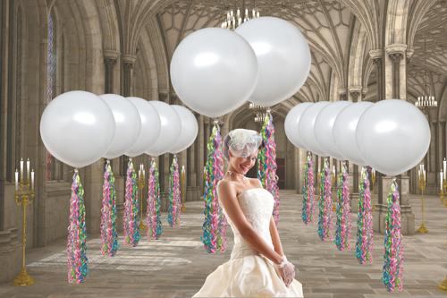 gro e luftballons zur hochzeit ballonsupermarkt. Black Bedroom Furniture Sets. Home Design Ideas