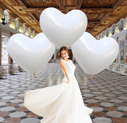 Grosse Herzluftballons zur Hochzeit