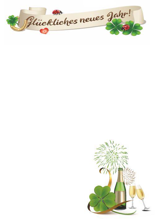 Grußkarte Silvester