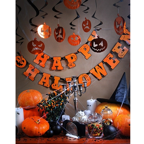 ballonsupermarkt halloween swirl dekoration k rbisse 5 st ck halloween. Black Bedroom Furniture Sets. Home Design Ideas