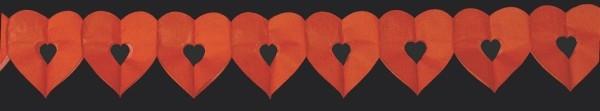 Hochzeitsdekoration, Herzgirlande rot für Liebe und Hochzeit, Valentinstag,