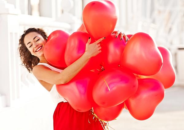 50 x rote Herzballons Ø 33cm die Ballons sind speziell für Ballongas geeignet