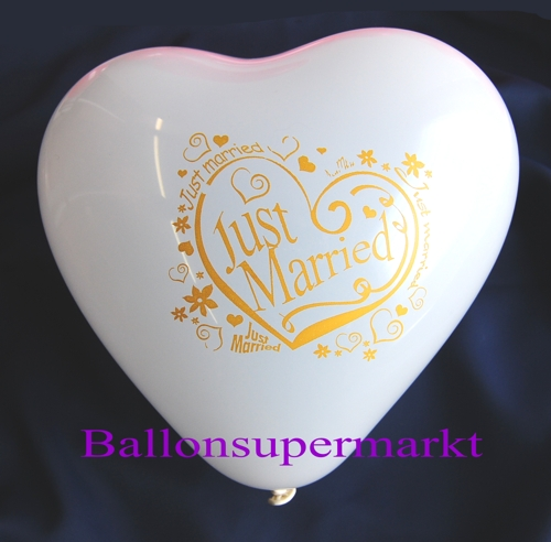 Herzluftballon-weiss-just-married