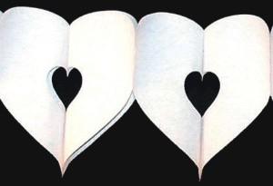 Herzgirlande, Dekoration Hochzeit, Dekoration Liebe, Love is in the air,