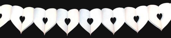Hochzeitsdekoration, Herzgirlande weiß für Liebe und Hochzeit, Valentinstag,