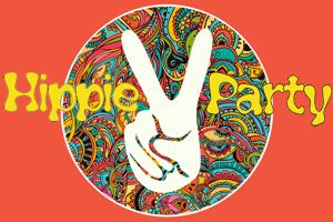 Hippie Party Partydekoration und Luftballons
