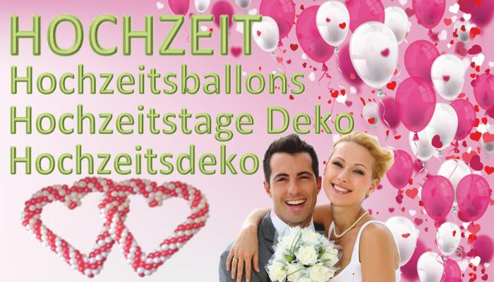 Hochzeit, Hochzeitsdeko, Hochzeits-Luftballons