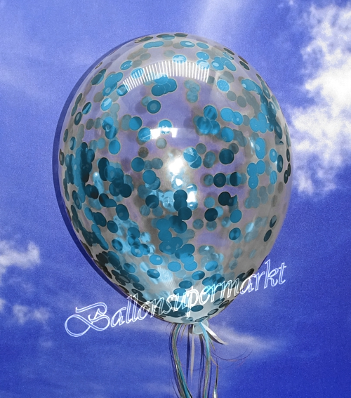 ballonsupermarkt jumbo konfetti ballons transparent gef llt mit konfetti in hellblau. Black Bedroom Furniture Sets. Home Design Ideas