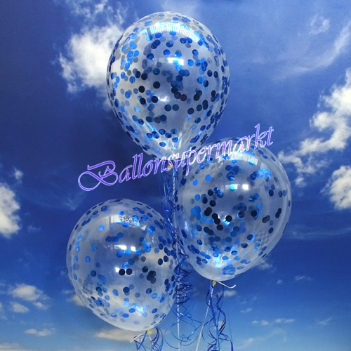 jumbo konfetti ballons transparent gef llt mit konfetti in blau ballonsupermarkt. Black Bedroom Furniture Sets. Home Design Ideas