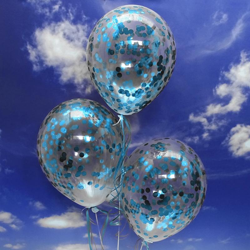 ballonsupermarkt jumbo konfetti ballons transparent gef llt mit konfetti in hellblau. Black Bedroom Furniture Sets. Home Design Ideas