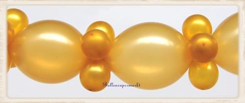 goldene hochzeit dekoration ballongirlande zum selbermachen ballondekoration in gold goldene. Black Bedroom Furniture Sets. Home Design Ideas