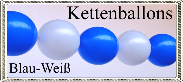 Ballonsupermarkt oktoberfest dekoration - Luftballongirlande selber machen ...