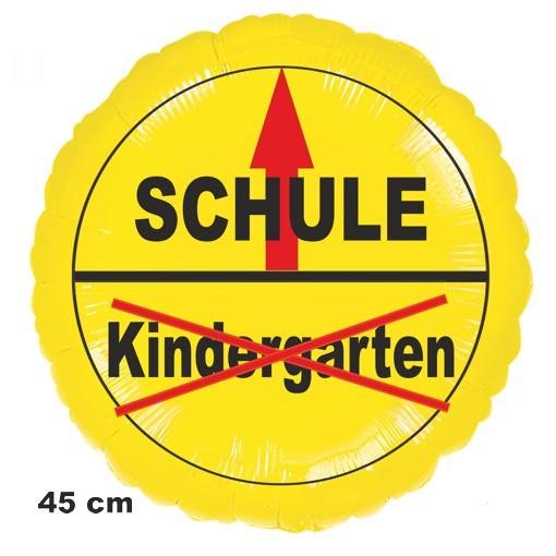 Luftballon zur Einschulung: Kindergarten Schule