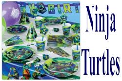 Kindergeburtstag-Dekoration-und-Luftballons-Ninja-Turtles