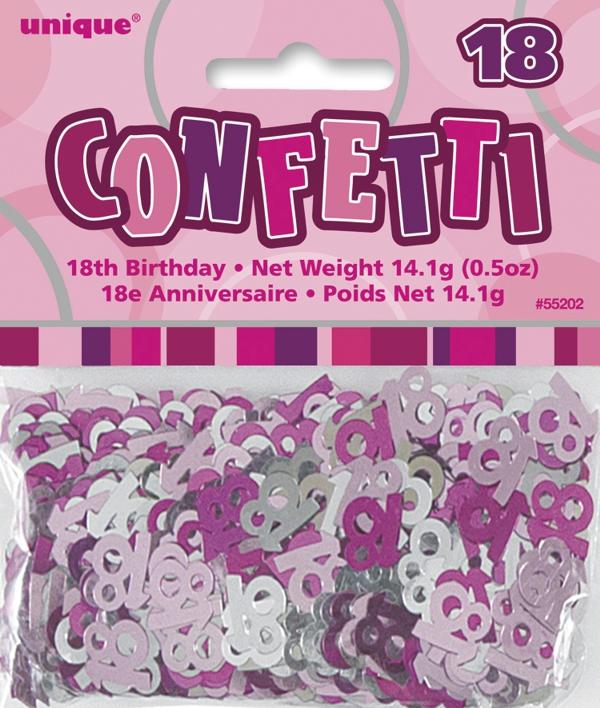 Ballonsupermarkt konfetti streudeko zum for Dekoration zum 18 geburtstag