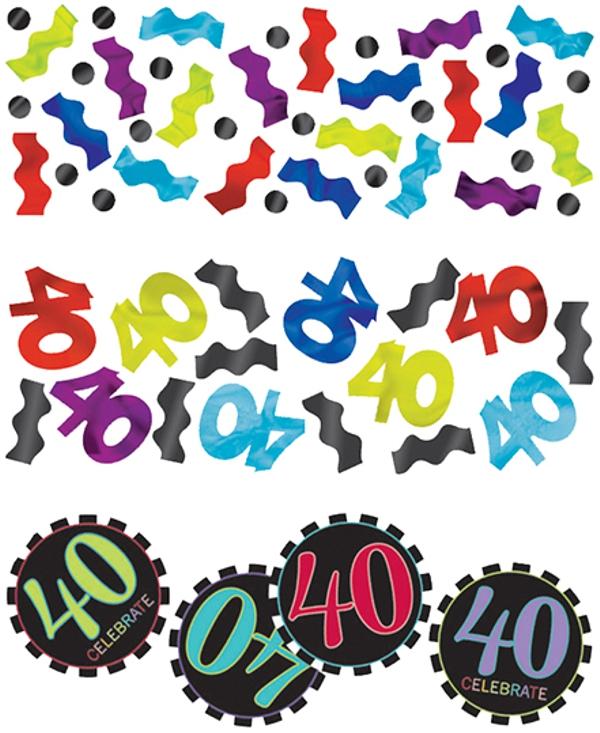 celebrate 40 konfetti 3 sorten streudekoration. Black Bedroom Furniture Sets. Home Design Ideas
