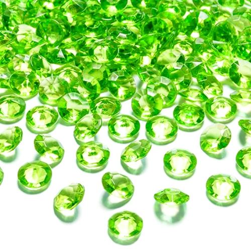 konfetti tisch und streudekoration diamond konfetti hellgr n ballonsupermarkt. Black Bedroom Furniture Sets. Home Design Ideas