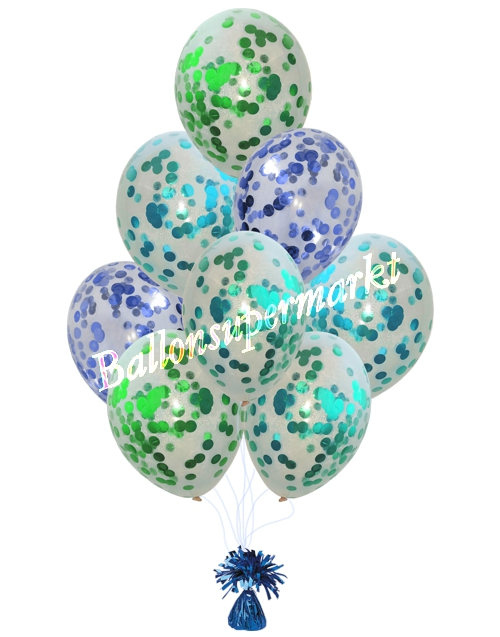 Konfetti-Luftballons-Do-it-yourself-Dekoration-Party-Dekorationsbeispiel