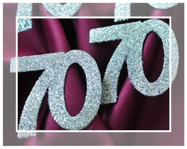 Zahlendeko konfetti silber glitter zahl 70 konfetti geburtstag tischdekoration geburtstag - 70 geburtstag dekoration ...