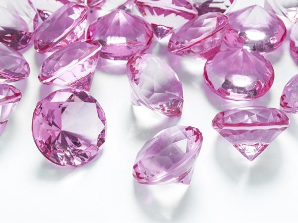 ballonsupermarkt konfetti xl tisch und streudekoration diamond konfetti pink. Black Bedroom Furniture Sets. Home Design Ideas