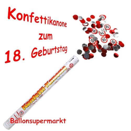 Ballonsupermarkt konfettikanone zum 18 for Dekoration zum 18 geburtstag