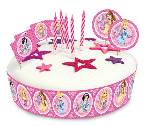 ballonsupermarkt kuchen dekorations set disney princess partydekoration. Black Bedroom Furniture Sets. Home Design Ideas