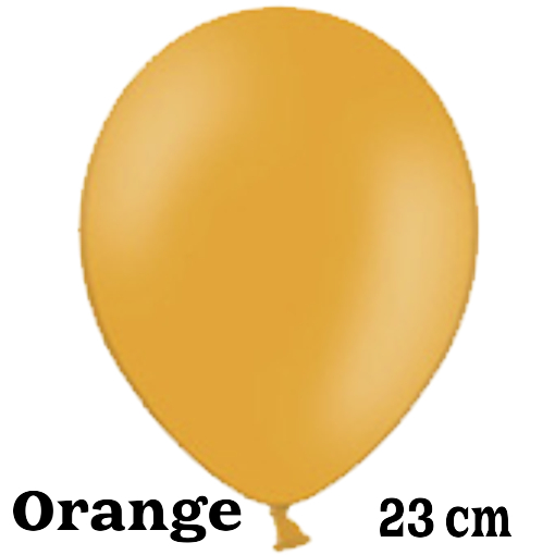 Luftballon 23 cm Orange