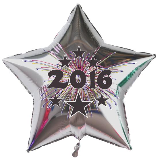 Folienballon Stern 2016