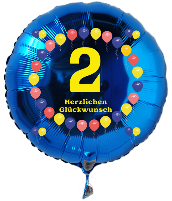 ballonsupermarkt luftballon aus folie 2 geburtstag herzlichen gl ckwunsch. Black Bedroom Furniture Sets. Home Design Ideas