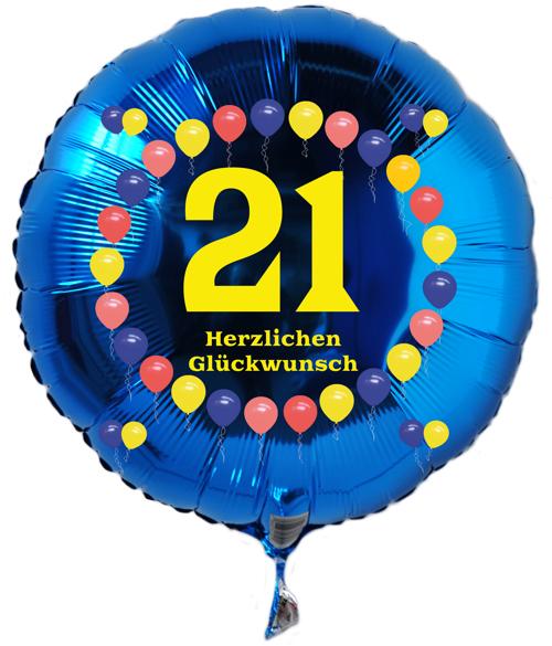 ballonsupermarkt luftballon 21 geburtstag. Black Bedroom Furniture Sets. Home Design Ideas