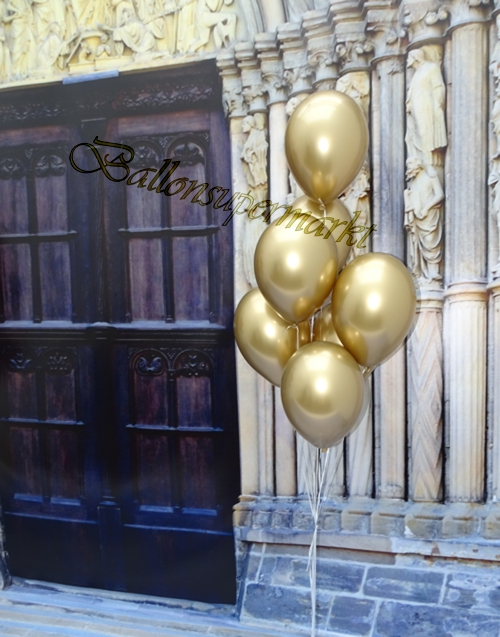 Luftballons-Chrome-gold-Ballondekoration-Chromglanz-Arrangement-Dekobeispiel